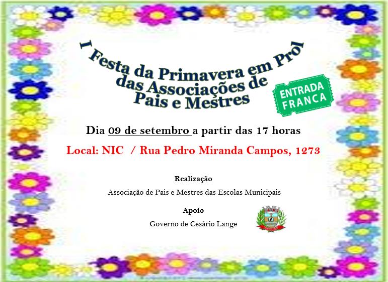 Associações De Pais E Mestres Promovem A 1ª Festa Da