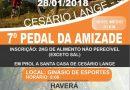 7º PEDAL DA AMIZADE EM CESÁRIO LANGE