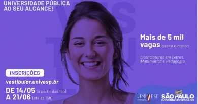 UNIVESP ABRE INCRIÇÕES PARA NOVOS CURSOS EM CESÁRIO LANGE A PARTIR DE 14/05